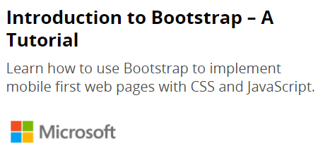 Bootstrap Tutorial From Edx